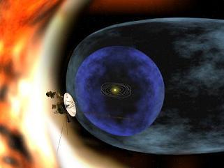 El Voyager fuera del sist. solar (dibujo NASA)