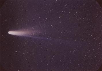 Foto del cometa Halley