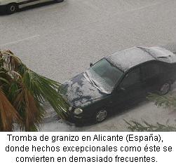 Alicante tromba de granizo