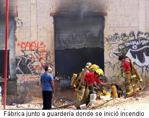 La fábrica del incendio