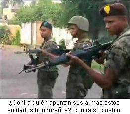 soldados hondureños