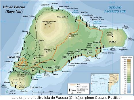 Mapa Isla de Pascua 1