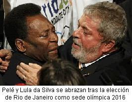 Pelé y Lula emocionados