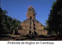 pirámide de Angkor en Camboya