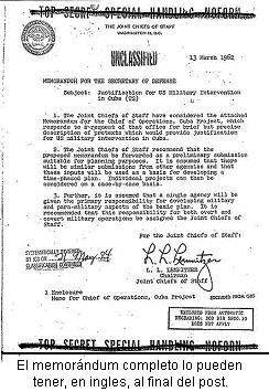 Operación Northwoods Northwoods-memorandum