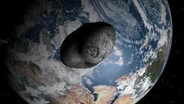 Recreación del meteorito Apophis