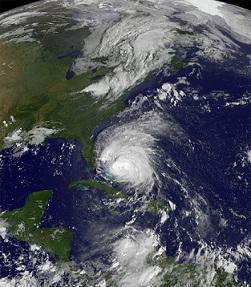 Huracán Irene desde el espacio