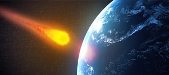 asteroide en choque