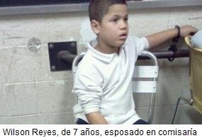 Wilson Reyes esposado