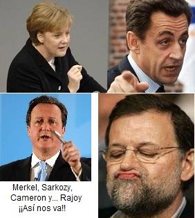 Merkel, Sarkozy, Cameron y Rajoy