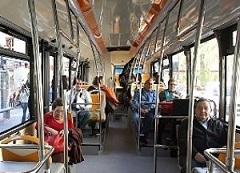 Pasajeros de un autobus