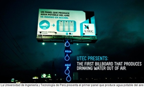 Producir agua potable del aire