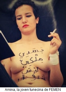 Amina la joven tunecina de FEMEN