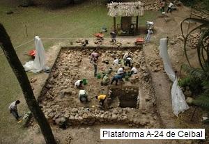 Plataforma maya A-24 de Ceibal