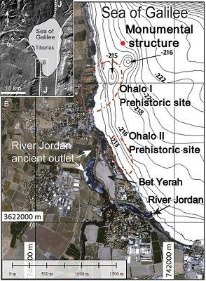 Ruinas sumergidas en el mar de Galilea