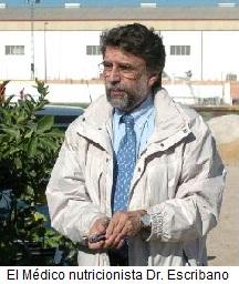 El Médico nutricionista Dr. Escribano
