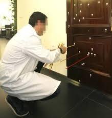 Puerta tiroteada