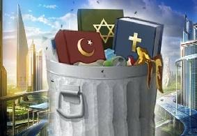 Religiones a la basura