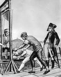 Hombre en la guillotina
