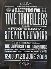 Invitación de Hawking a viajeros en el tiempo