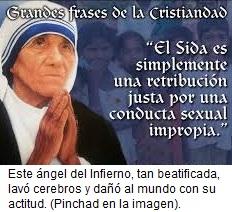 Teresa de Calcuta es el angel del Infierno