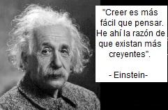 Las creencias según Einstein