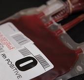 Bolsa con sangre de Siesp