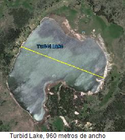 Tamaño del Turbid Lake