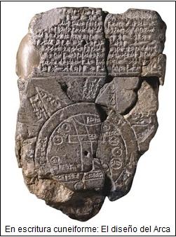 Diseño babilónico del arca de Noé