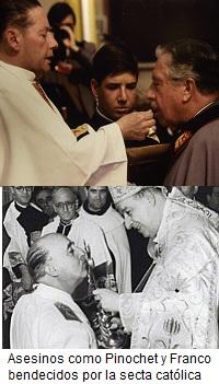 Pinochet y Franco