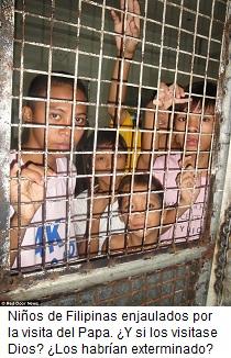 Niños filipinos enjaulados