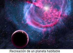 Recreación de planeta habitable