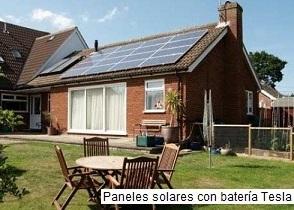 Casa con batería Tesla