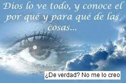 Dios no lo ve todo
