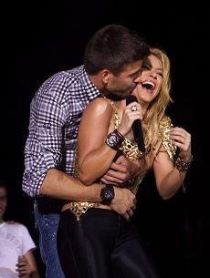 Piqué y su esposa Shakira