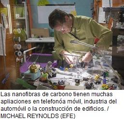 Tecnología con nanofibras de carbono