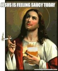 Jesús y su cerveza